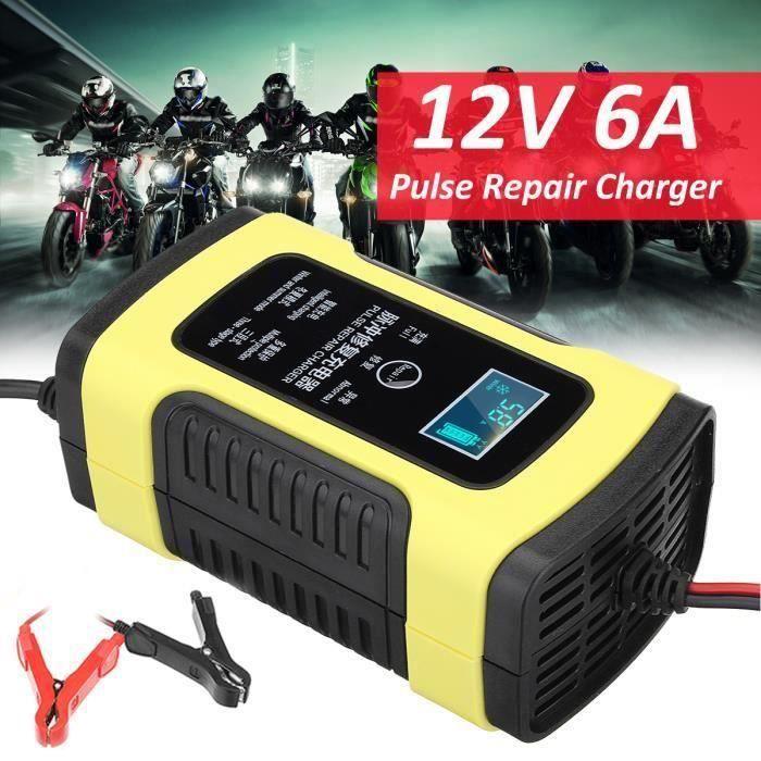 US Version 12 V 5 A MOTO Batterie Voiture Plomb Acide stockage Chargeur avec affichage LCD