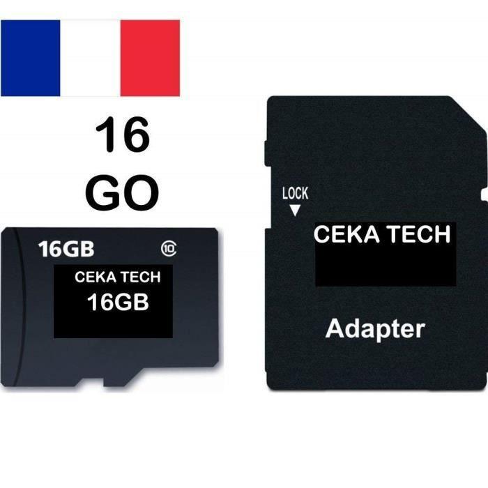 Carte Mémoire Compatible Avec Huawei P30 Pro Ceka Tech Micro Sd 16go Classe 10 Avec Adaptateur Sd Achat Vente Carte Mémoire Cdiscount