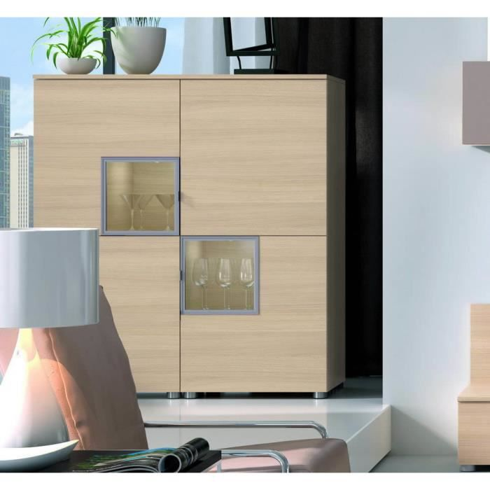 meuble 4p 2 cubes finition chene nordique achat vente. Black Bedroom Furniture Sets. Home Design Ideas