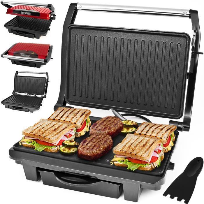 GRILL ÉLECTRIQUE Monzana® Grill électrique / panini sandwichs 1000W