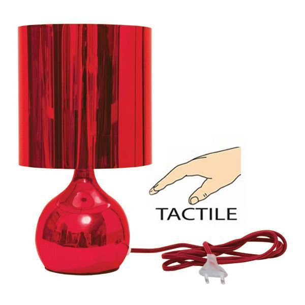 lampe tactile bubble rouge achat vente lampe tactile bubble rouge tissu m tal cdiscount. Black Bedroom Furniture Sets. Home Design Ideas