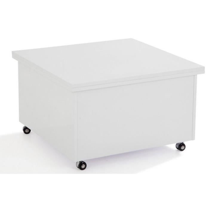 Basse table relevable plateau - Table basse blanche relevable ...