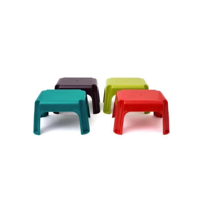tabouret marche pied table basse de jardin rouge achat vente table basse jardin tabouret. Black Bedroom Furniture Sets. Home Design Ideas