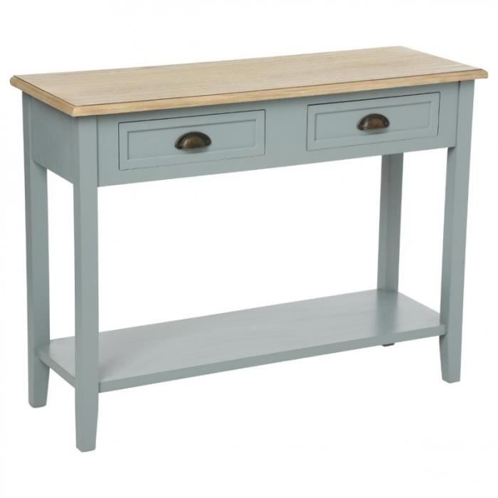 console bois gris achat vente console bois gris pas cher cdiscount. Black Bedroom Furniture Sets. Home Design Ideas