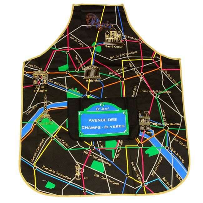 Tablier de cuisine plan de paris achat vente tablier for Tablier de cuisine paris