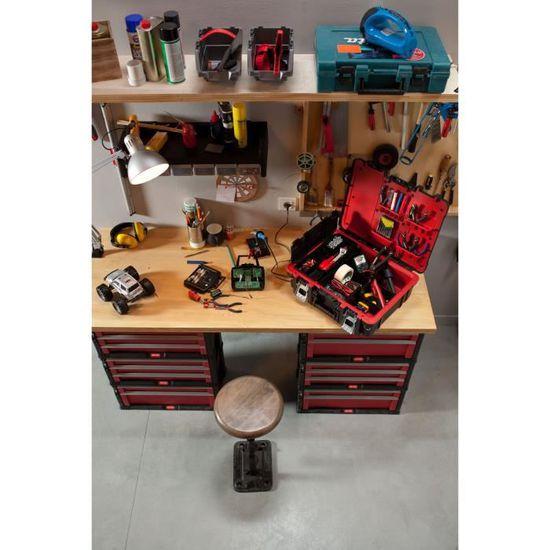 boite a outils Organiseur amovible pratique crochets métalliques 470 x 175 x 380
