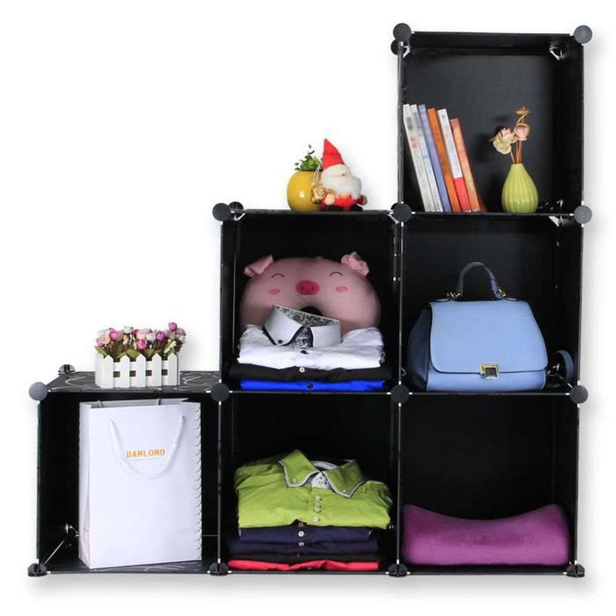 sungle diy armoire plastique noir tag re plastique meuble de rangement plasmatique penderie. Black Bedroom Furniture Sets. Home Design Ideas