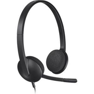 CASQUE AVEC MICROPHONE Logitech casque filaire USB Stereo - H340