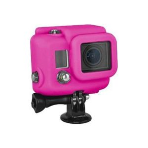 Xsories Silicone Cover Hero 3+ - Protection/ Personnalisation GoPro - housse compatible Hero 3+ /4 MAGENTA