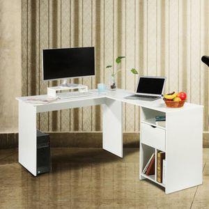 BUREAU  Bureau d'ordinateur en forme de L Grande Table d'a