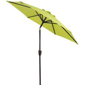 vidaXL Parasol D/éport/é avec LED et M/ât en Acier Pare Soleil Jardin Terrasse Plage Ext/érieur Anti-UV Anti-d/écoloration 250x250 cm Taupe