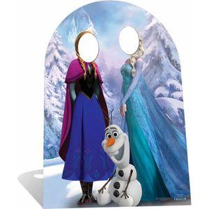 Déco de fête murale Figurine Passe-tête Reine des Neiges Enfant
