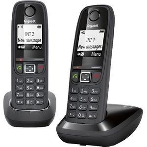 Téléphone fixe Gigaset AS405 Duo Téléphone Sans Fil Sans Répondeu