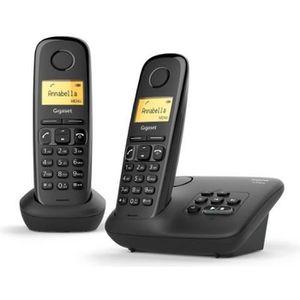 Téléphone fixe Gigaset AL170A Duo Noir - Téléphone DECT - Réponde