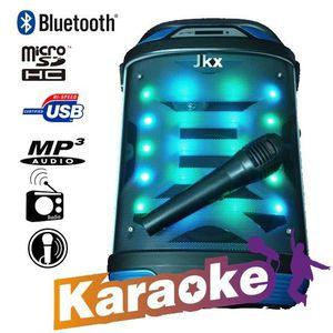 PACK SONO Enceintes karaoké Bluetooth haut parleur lumineux