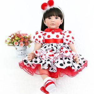 POUPÉE 24 pouces bebe poupées Reborn 60 cm Silicone doux