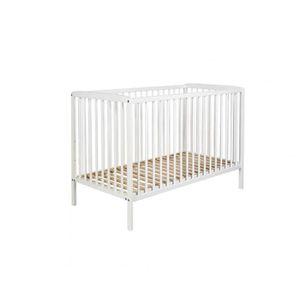 LIT BÉBÉ Lit bébé à barreaux 60x120 en bois blanc LT0001