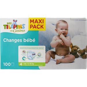 COUCHE LES TILAPINS Couches Maxi Taille 4 - 7 à 18kg - 10