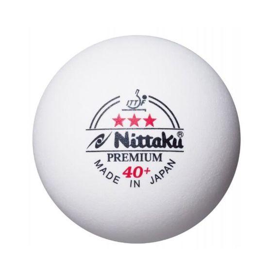 Nittaku Premium 3 Star Balles de tennis de table blanc haute qualité duarable