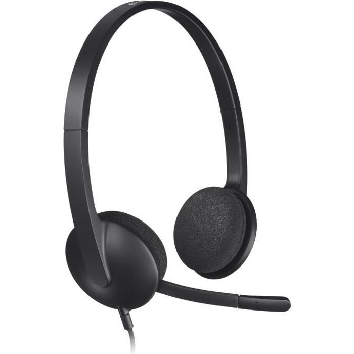 Logitech casque filaire USB Stereo - H340