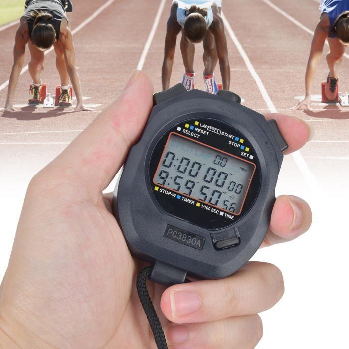 3860 Chronomètre de Course Multifonction Sport ABS Électronique Compte à Rebours d'Athlétisme(1 )