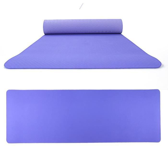 Non-Slip Yoga Double Couleur Mat TPE Eco Friendly Sports de plein air Fitness Mat Produit de yoga 40