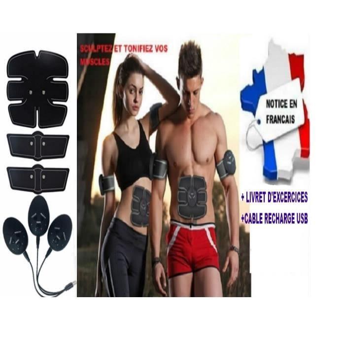 ceinture électrostimulation musculation abdo / electrostimulateur abdominal. Notice en français