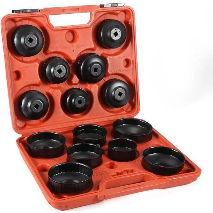 Coffret 14 pièces clés de filtres à huile, cloche pour filtre à huile