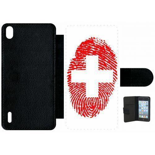 Etui huawei ascend p7 empreinte digitale drapeau suisse switzerland