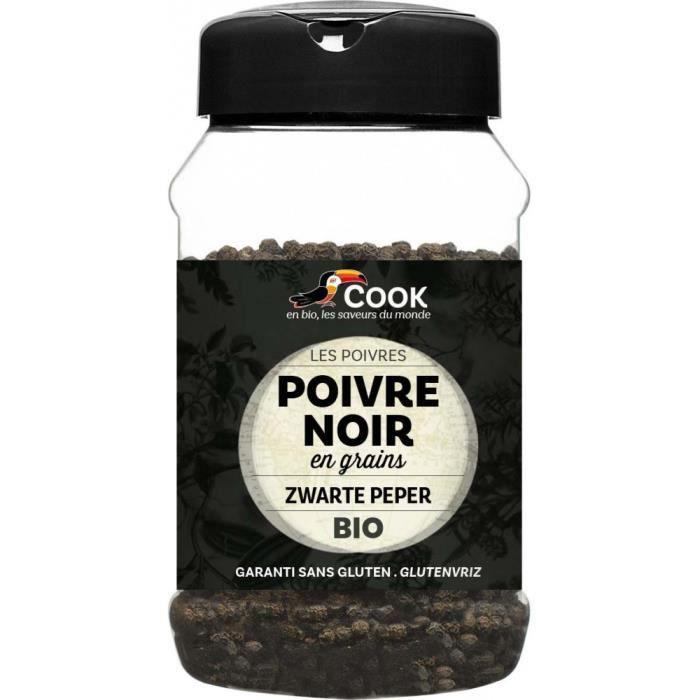 Poivre noir grains pot 200gr