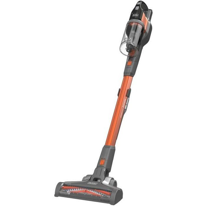 BLACK DECKER BHFEV182B-QW Aspirateur Balai PowerSeries - sans fil - Autonomie 58 min - 650L - Sans batterie -Orange