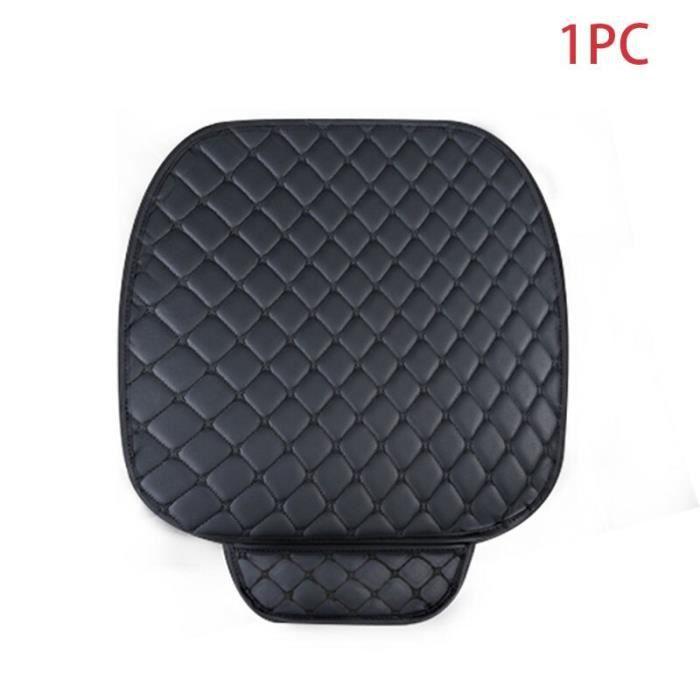 Couvre siège de voiture en cuir PU universel, couvre siège de voiture, couvre siège d'automobiliste Black Front 1pc