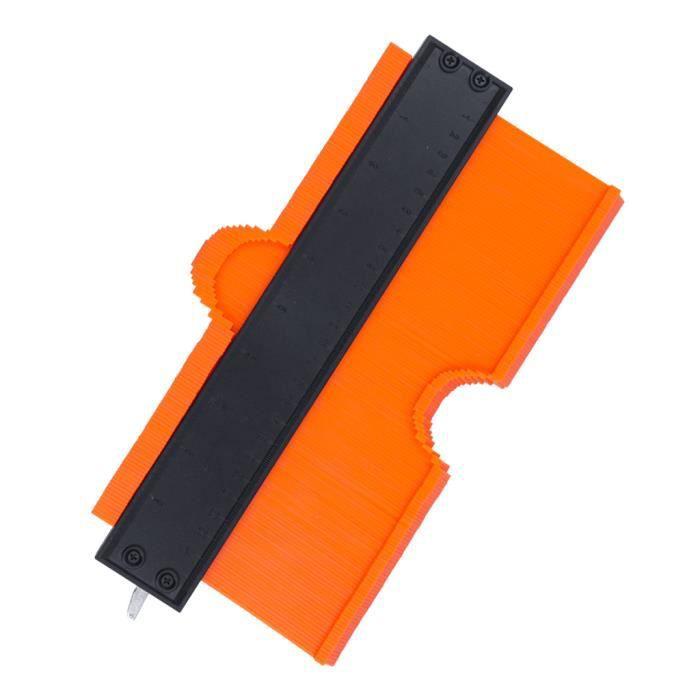 COOFIX orange 10 pouce Jauge de Contour Irrégulière Règle Copieur de Profil Outils de Menuiserie