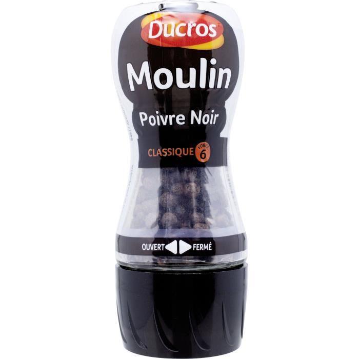 Moulin Poivre Noir Classique n°6 28g Ducros