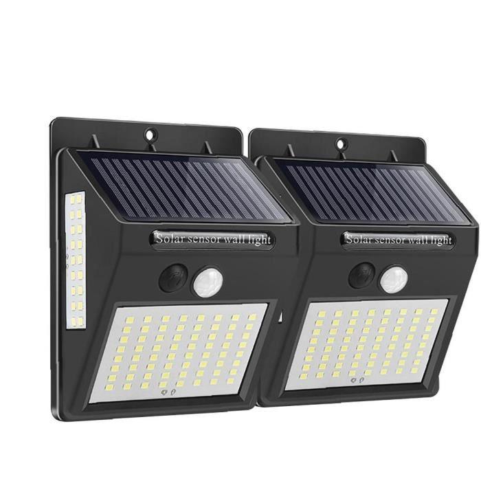 Solaire lumières d'extérieur Lampe de mur Powered LED sans fil 100 sécurité Capteur étanche de Noël pour le jardin Cour 2PCS