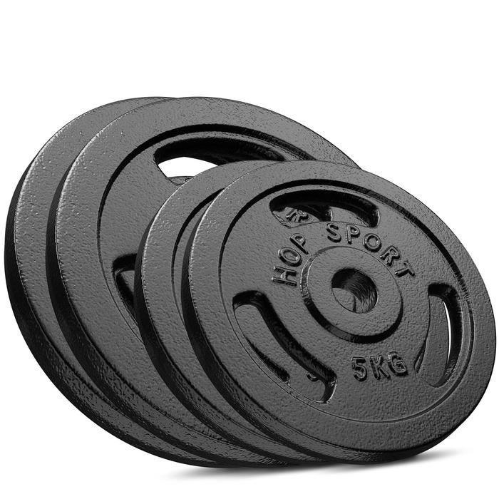 HS Hop-sport Disques en Fonte 30kg (2x10kg +2x5kg) SET A
