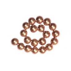 30 x Perle en Verre Nacrée 10mm Rose Tendre