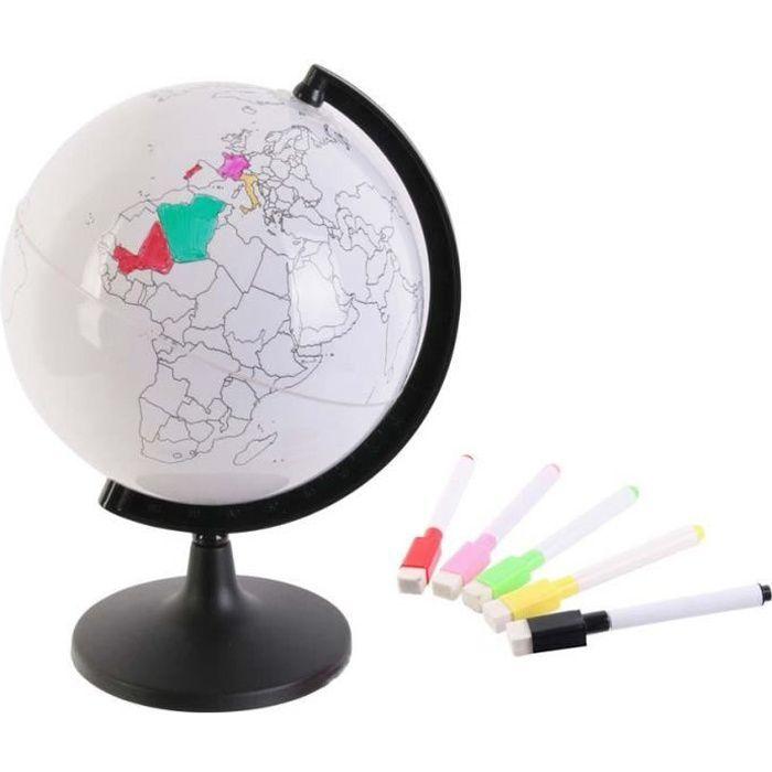 Globe terrestre à personnaliser Blanc