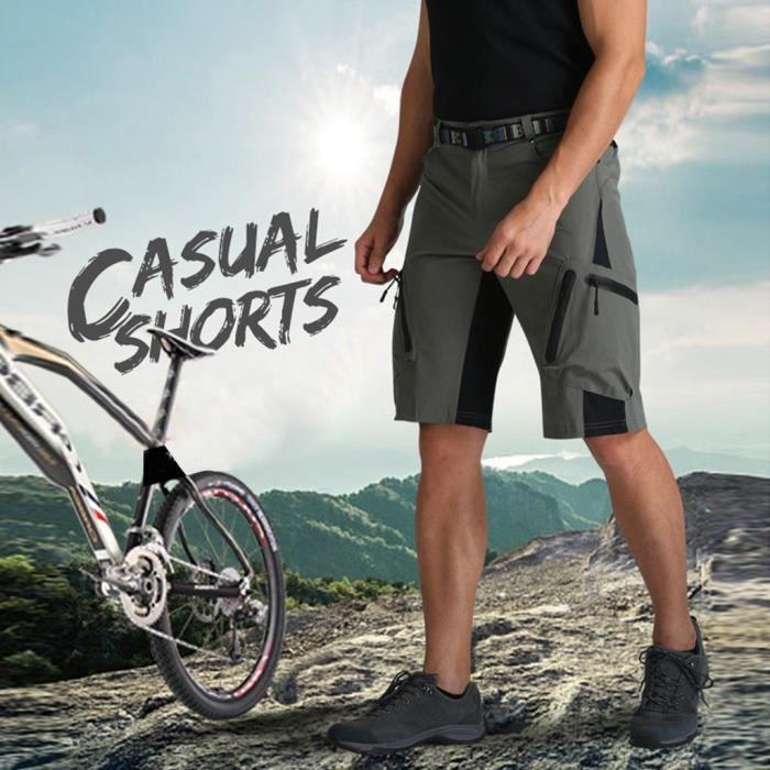 Hommes Cyclisme En Plein Air Vtt Shorts Pantalons D'Été Quick Séchage Breatha Pantalon Vert armée