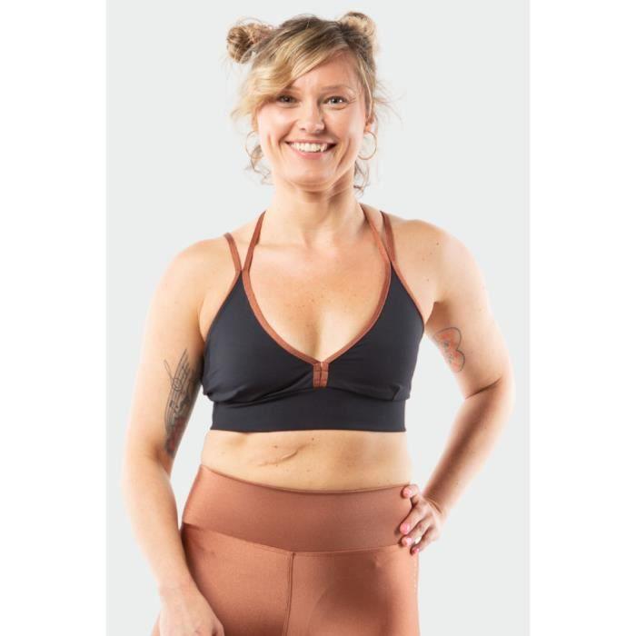 top sport femme Yby Paris maintien optimal confort ultra respirant détail en brotelle dans le dos pour plus de feminité