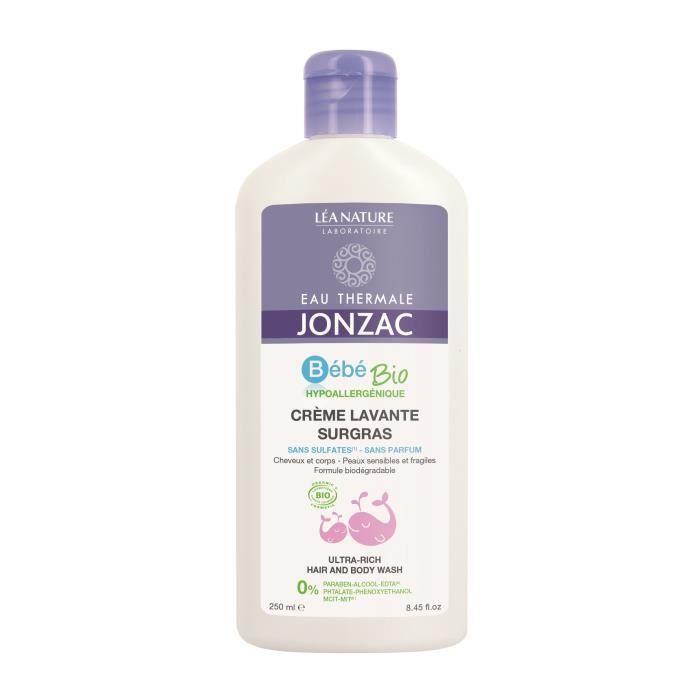 EAU THERMALE JONZAC Crème lavante surgras sans parfum - 250 ml