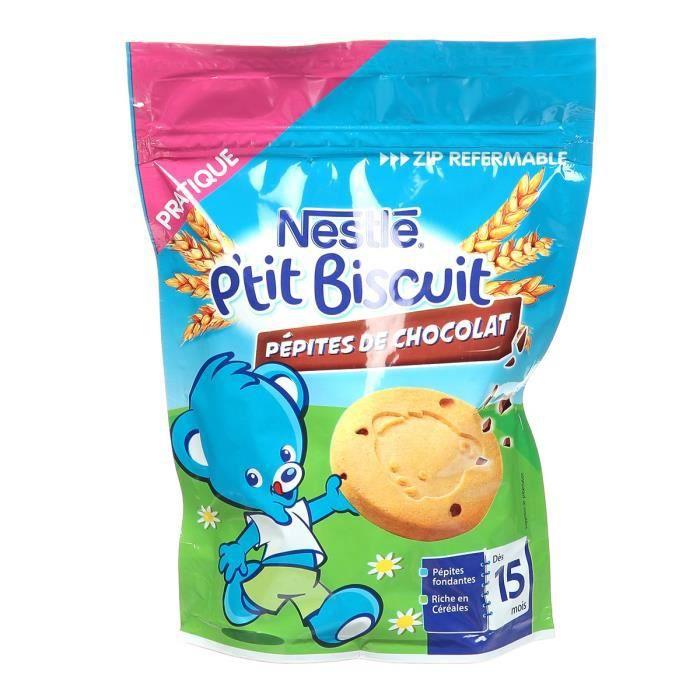 NESTLÉ P'tit Biscuit aux pépites de chocolat 150 g - Dès 15 mois