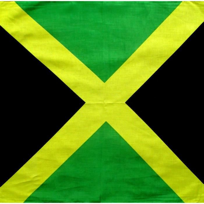 BANDANA JAMAIQUE 55 X 55 cm 100% coton - rasta reggae africa motard ....