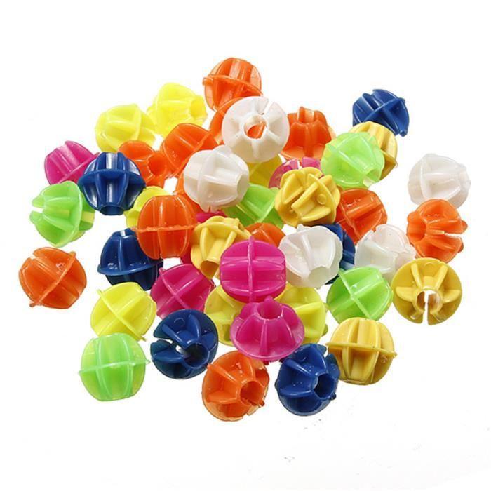 Paquet d'Environ 72 Perles Multicolores pour Rayons de Roues de Bicyclettes