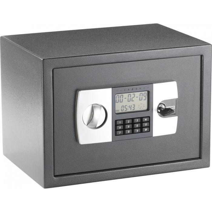 Coffre-fort en acier avec code numérique et écran LCD