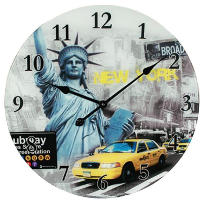 grande horloge new york achat vente horloge grande horloge new york prix de folie. Black Bedroom Furniture Sets. Home Design Ideas