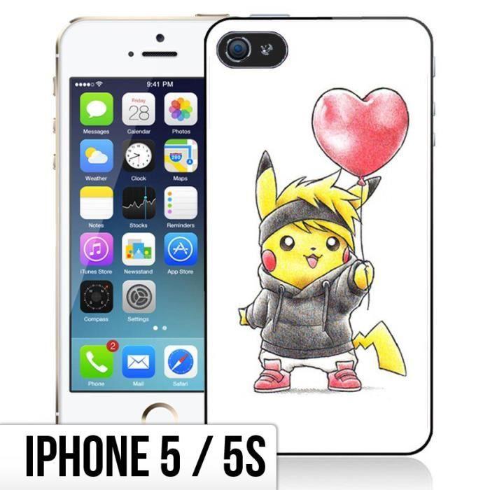 Coque iPhone 5-5S Bebe Pokemon - Pikachu