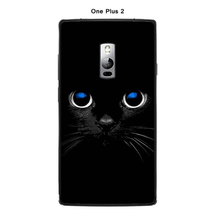 coque one one plus 2 design chat noir achat coque bumper pas cher avis et meilleur prix. Black Bedroom Furniture Sets. Home Design Ideas