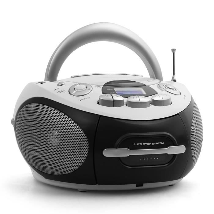majestic audiola ahb 0388 boombox lecteur cd portable usb. Black Bedroom Furniture Sets. Home Design Ideas