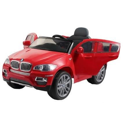 voiture lectrique pour enfant 4x4 bmw x6 rouge achat. Black Bedroom Furniture Sets. Home Design Ideas
